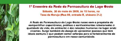 Convite Encontro Permacultura